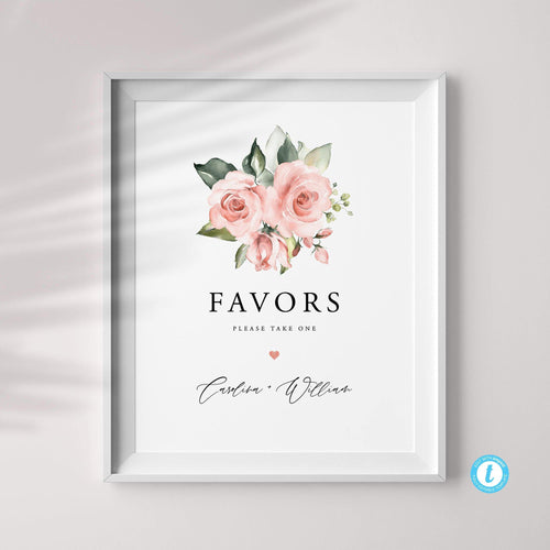 Wedding Favor Sign Template Download - Pearly Paper