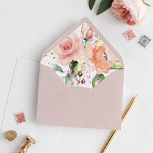 Load image into Gallery viewer, Floral Envelope Liner Pink & Peach - Pearly Paper