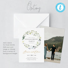 Load image into Gallery viewer, Rustic engagement party invitation - Pearly Paper