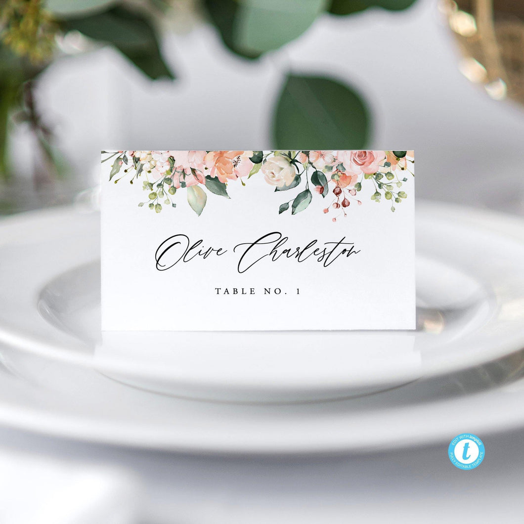 Place Cards Floral - Pearly Paper