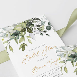 Rustic Bridal Shower Invitation - Pearly Paper