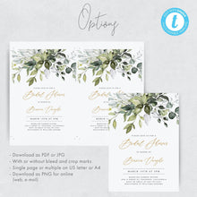 Load image into Gallery viewer, Rustic Bridal Shower Invitation - Pearly Paper