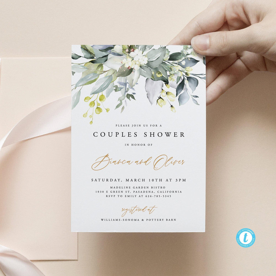 Rustic Couples Shower Invitation - Pearly Paper