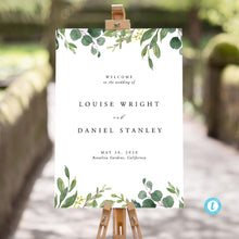 Load image into Gallery viewer, Wedding sign Template Download Rustic - Pearly Paper