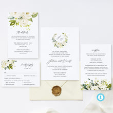Load image into Gallery viewer, Printable Wedding Set Invitation Template - Pearly Paper