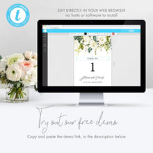 Load image into Gallery viewer, White Floral Table Numbers - Pearly Paper