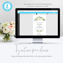 Load image into Gallery viewer, Floral Wedding Ceremony Program - Pearly Paper