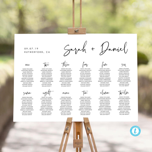 Table seating chart Sign Modern - Pearly Paper