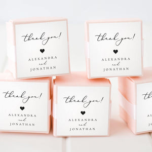 Wedding Favor Tags Modern - Pearly Paper