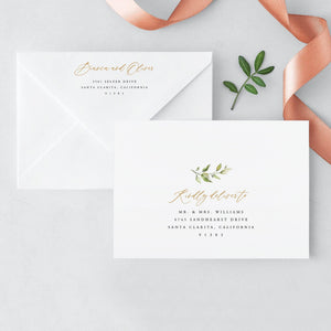 Envelope Adress Template Rustic Greenery - Pearly Paper