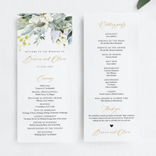 Load image into Gallery viewer, Rustic Wedding Ceremony Program - Pearly Paper