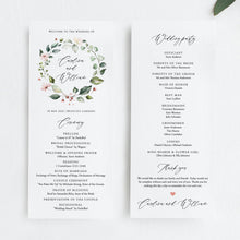 Load image into Gallery viewer, Wedding Ceremony Program - Pearly Paper