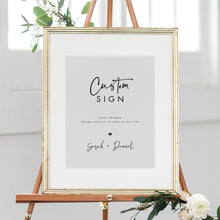Load image into Gallery viewer, Custom Sign Template Printable Modern - Pearly Paper