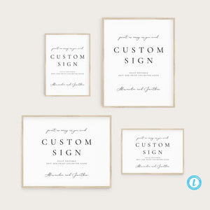 Printable Custom Sign Template Modern - Pearly Paper