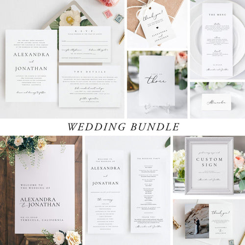 Wedding Bundle Download Wedding Invitation - Pearly Paper