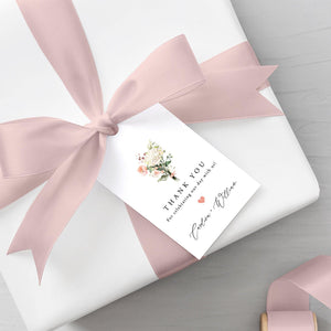 Floral Favor Tags - Pearly Paper