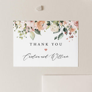 Wedding Thank You Note Floral - Pearly Paper
