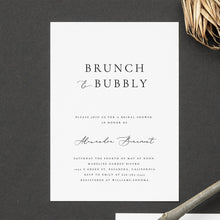 Load image into Gallery viewer, Brunch and Bubbly Bridal Shower Invitation - Pearly Paper