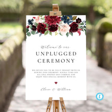 Load image into Gallery viewer, Unplugged Wedding Sign Template Download - Pearly Paper
