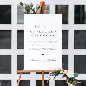 Unplugged Wedding Sign Template Download - Pearly Paper