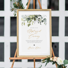 Load image into Gallery viewer, Unplugged Ceremony Sign Template Download - Pearly Paper