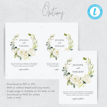 Load image into Gallery viewer, Wedding Invitation Template Download Floral - Pearly Paper