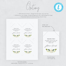 Load image into Gallery viewer, Favor Tag Template White Floral - Pearly Paper