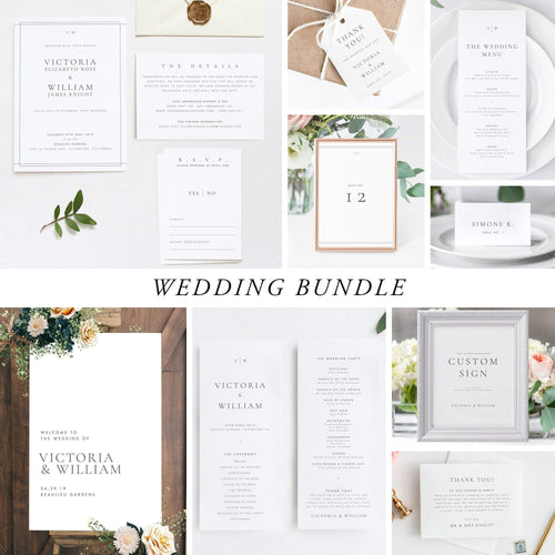 Wedding Bundle Download Elegant Wedding - Pearly Paper