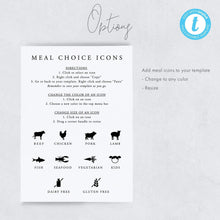 Load image into Gallery viewer, Personalized Wedding Menu - Pearly Paper