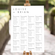 Load image into Gallery viewer, Alphabetical Minimalist Seating Chart Sign - Pearly Paper