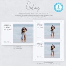 Load image into Gallery viewer, Minimalist Photo Save the Date - Pearly Paper