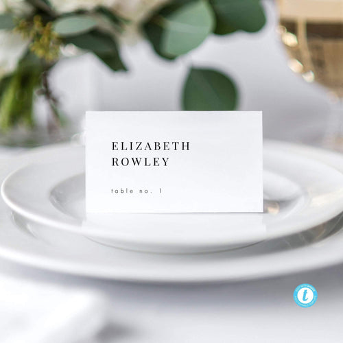 Minimalist Wedding Place Cards - Pearly Paper