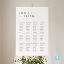 Load image into Gallery viewer, Minimalist Wedding Seating Chart Sign - Pearly Paper
