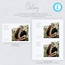 Load image into Gallery viewer, Minimalist Save the Date with Photo - Pearly Paper