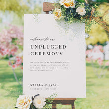 Load image into Gallery viewer, Minimalist Unplugged Wedding Sign - Pearly Paper