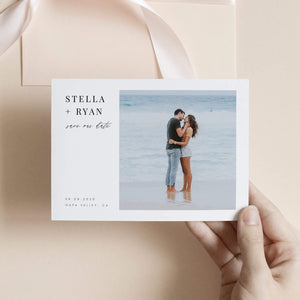 Minimalist Photo Save the Date - Pearly Paper