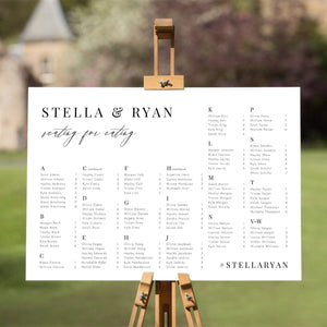 Minimalist Seating Chart Template - Pearly Paper