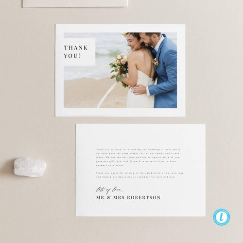 Photo Wedding Thank you - Pearly Paper