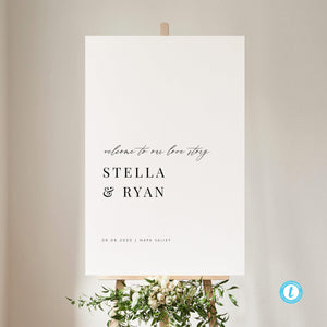 Classic Minimalist Welcome Sign - Pearly Paper
