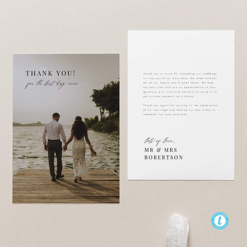 Photo Minimalist Wedding Thank you - Pearly Paper