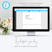 Load image into Gallery viewer, Minimalist Wedding Thank you - Pearly Paper