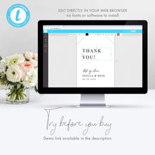 Load image into Gallery viewer, Minimalist Wedding Tag Thank you - Pearly Paper