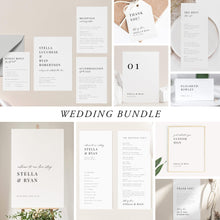 Load image into Gallery viewer, Classic Minimalist Wedding Bundle Download Wedding Invitation - Pearly Paper
