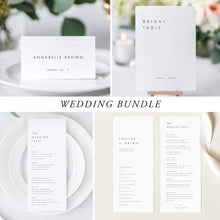 Load image into Gallery viewer, Minimalist Wedding Bundle Download Wedding Invitation - Pearly Paper