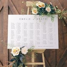 Load image into Gallery viewer, Alphabetical seating chart - Pearly Paper
