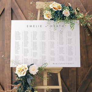 Alphabetical seating chart - Pearly Paper