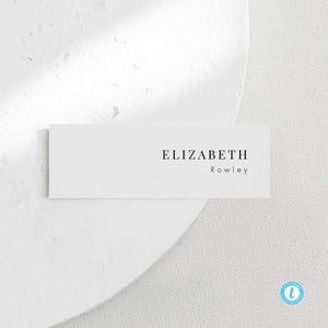 Minimalist Wedding Place Card Tags - Pearly Paper