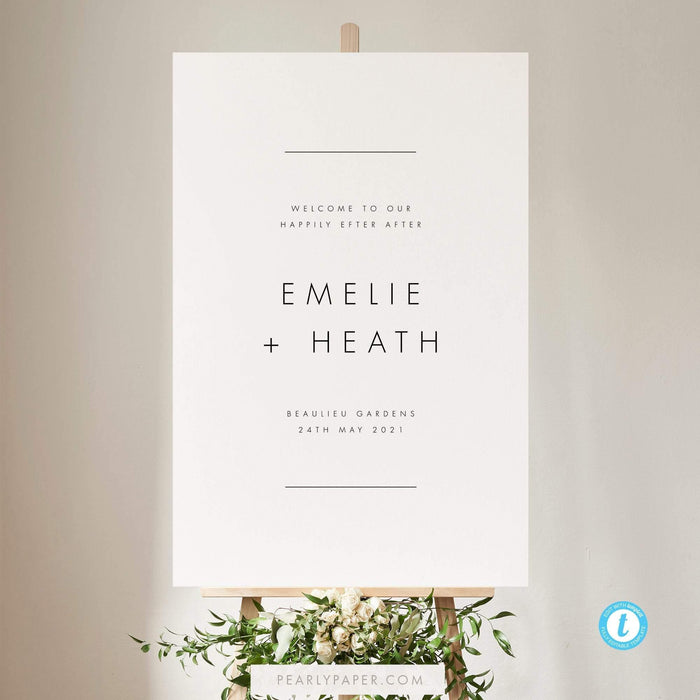 Minimalist welcome sign - Pearly Paper