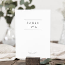 Load image into Gallery viewer, Modern Table numbers template - Pearly Paper