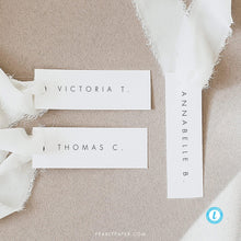 Load image into Gallery viewer, Modern Place card Template - Pearly Paper
